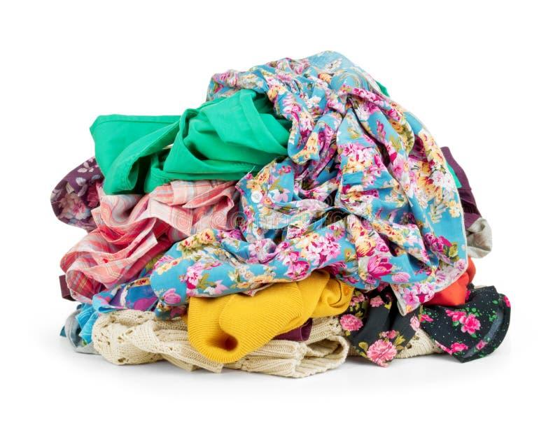 Grote hoop van kleurrijke kleren, royalty-vrije stock afbeeldingen