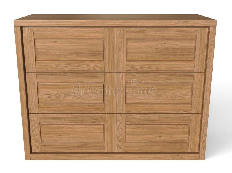 Ladekast Slaapkamer Hout : Grote houten ladenkast stock illustratie illustratie bestaande