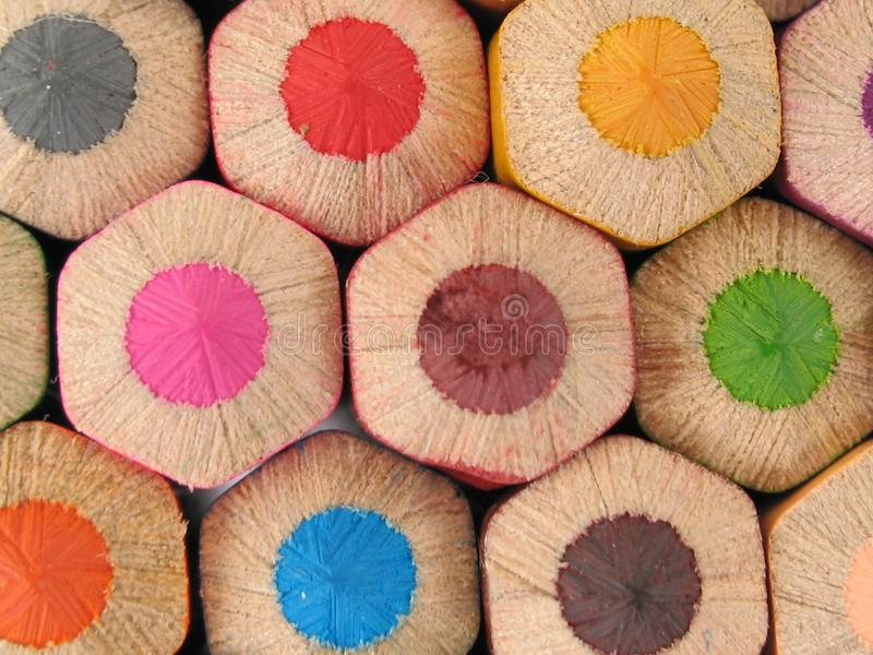 Grote houten potloden stock afbeelding