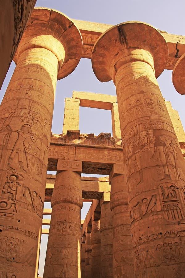 Grote Hypostyle Zaal, Karnak-complexe tempel, Luxor stock afbeeldingen