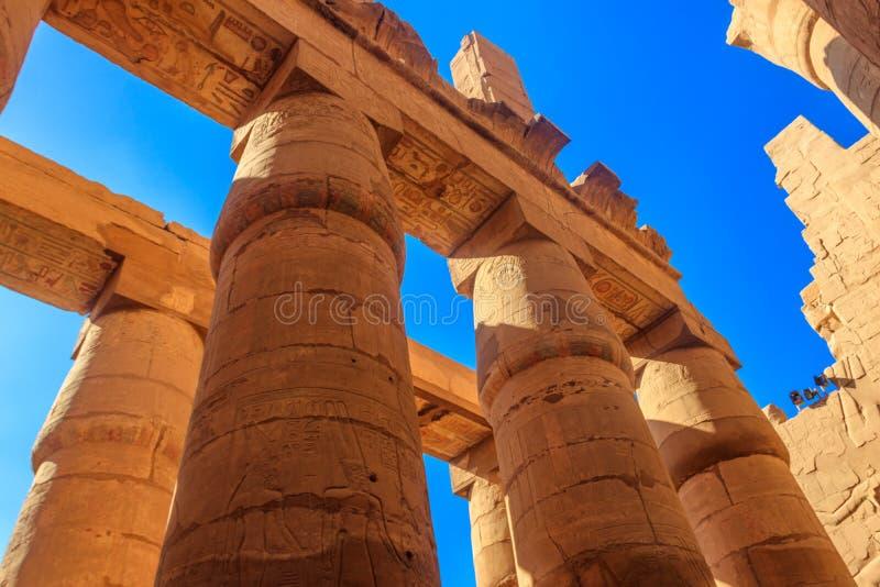 Grote Hypostyle Zaal in Karnak-tempel complex in Luxor, Egypte royalty-vrije stock foto's
