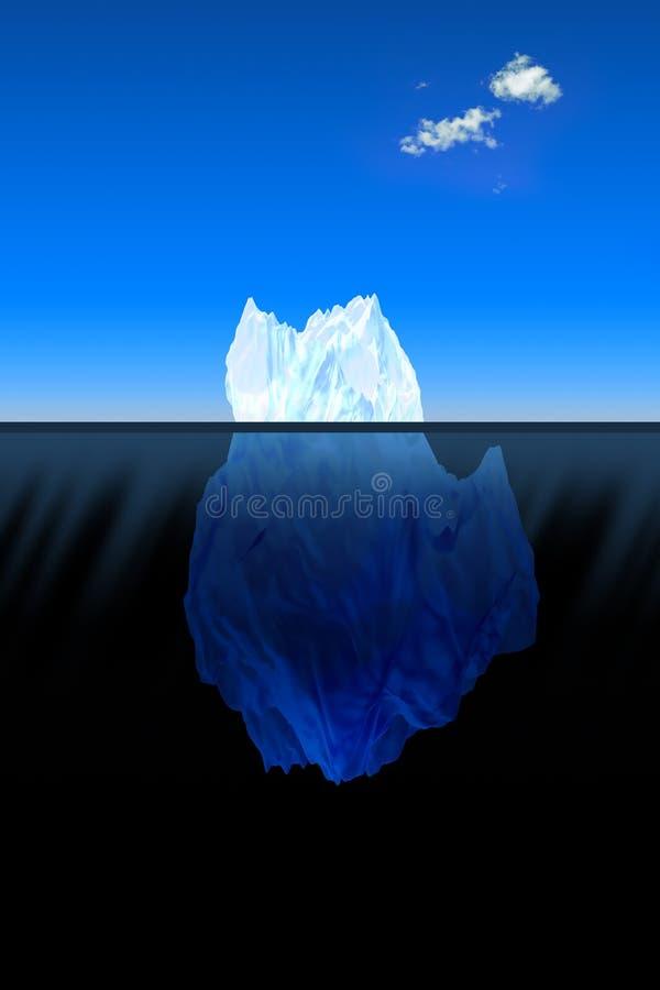 Grote ijsberg in de oceaan royalty-vrije illustratie