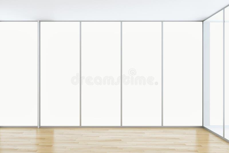 Grote illus van de de flatwoonkamer van het luxe moderne heldere binnenland stock illustratie