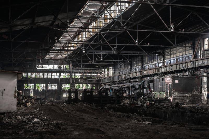 Grote industriële zaal in aanbouw royalty-vrije stock foto