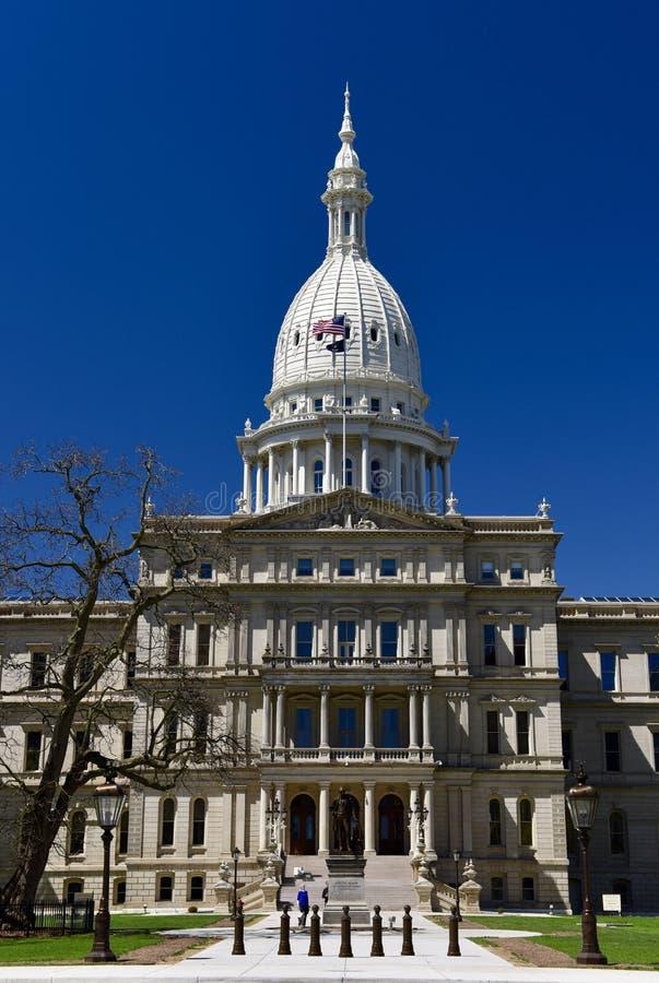 Grote Ingang van het Capitool van Michigan royalty-vrije stock afbeeldingen