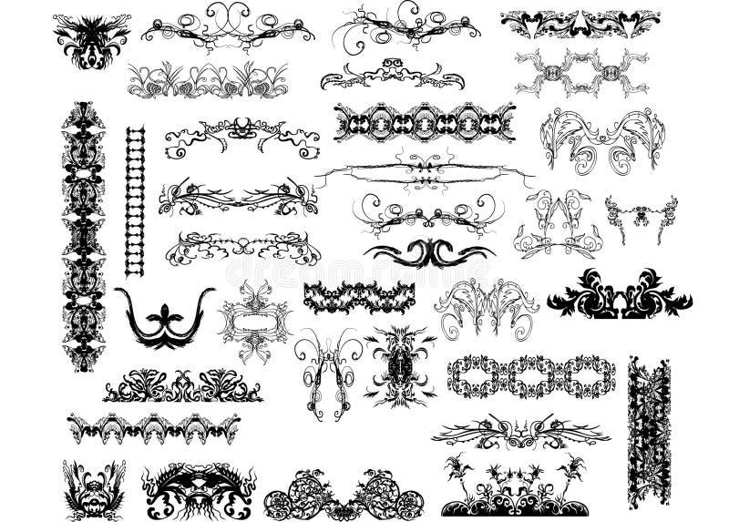 Grote inzameling van decoratieve elementen vector illustratie