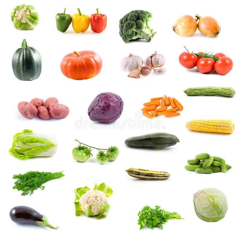 Grote inzameling van groenten royalty-vrije stock foto