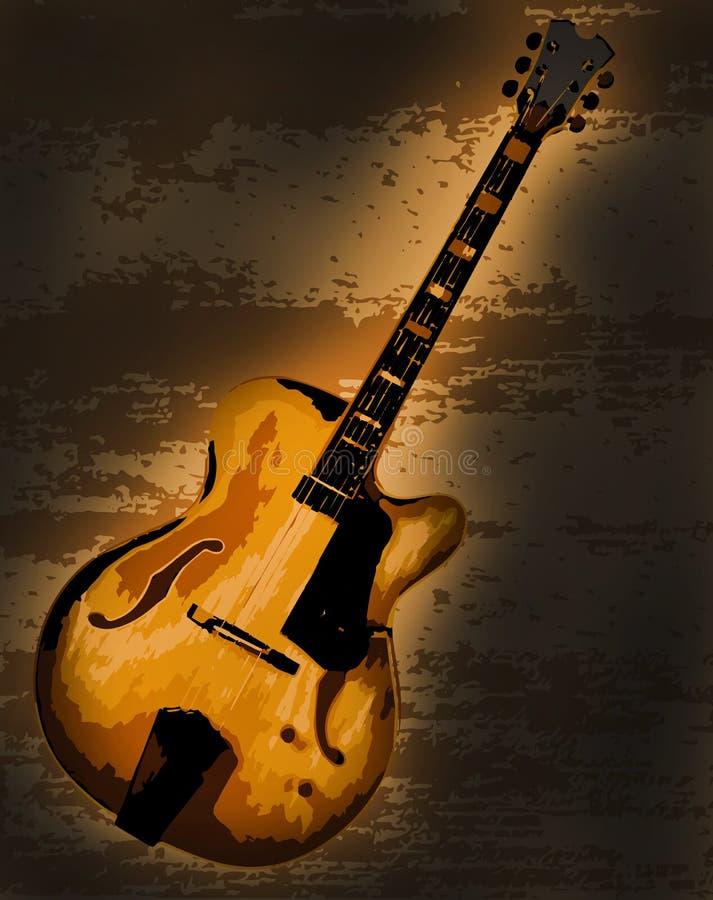 Grote Jazz Guitar stock illustratie