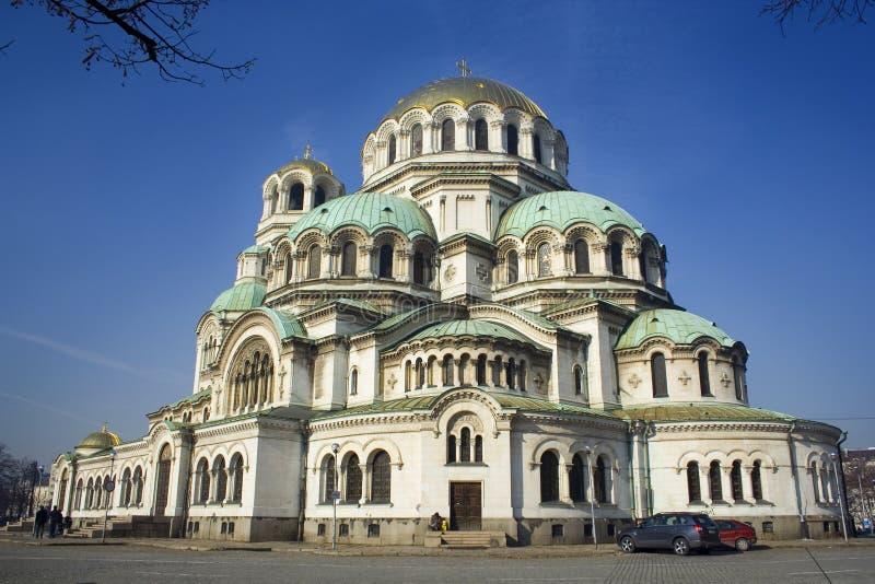 GROTE KATHEDRAAL IN BULGARIJE royalty-vrije stock afbeelding