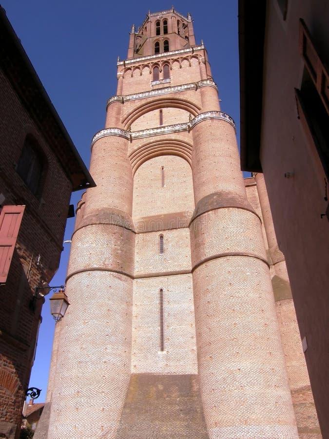 Grote kathedraal van Albi stock afbeeldingen