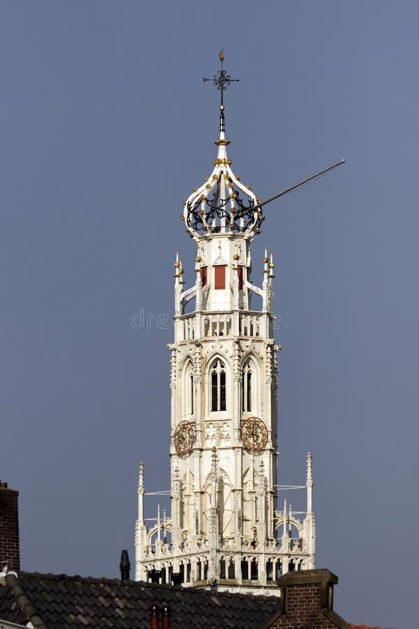 Grote Kerk, st Bavo Kerk, cattedrale di Sint-Bavo, chiesa gotica a Haarlem, l'Olanda Settentrionale, Paesi Bassi fotografia stock
