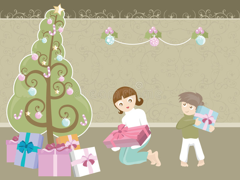 Grote Kerstboom royalty-vrije illustratie