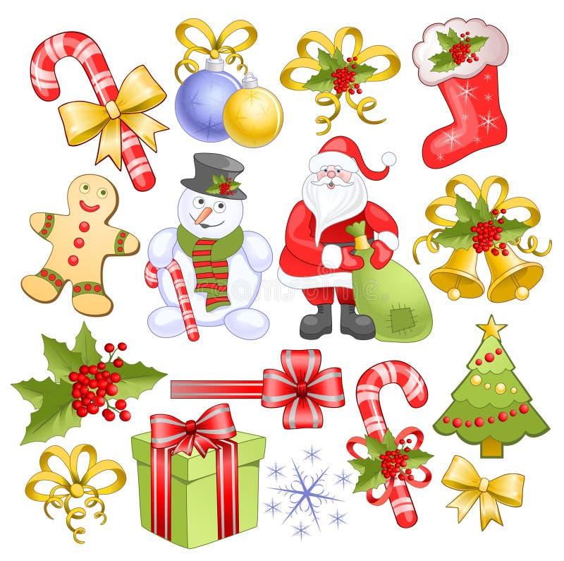 Grote Kerstmisreeks stock illustratie
