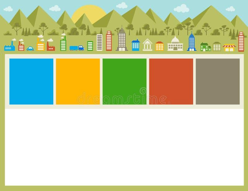 Grote kleurrijke stad vector illustratie