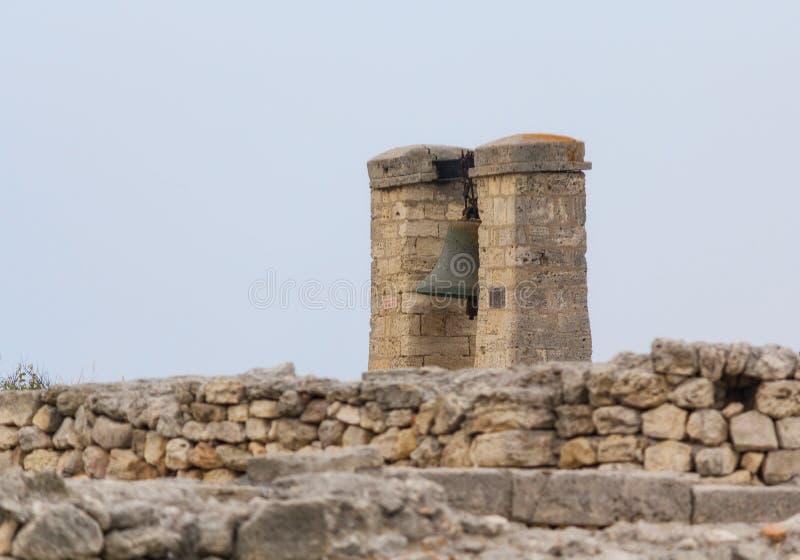 Grote klok in Chersonesus in de Krim stock foto's