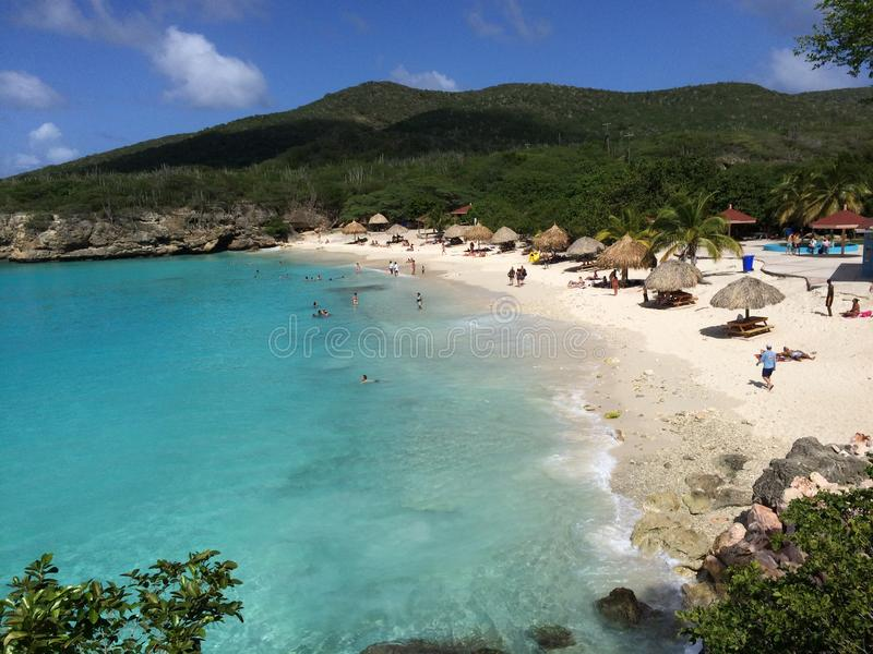 Grote Knip Beach in West Punt Area, Curacao stock photography
