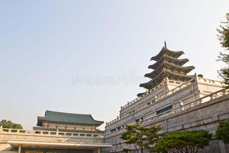 Grote Koreaanse Tempel stock afbeelding