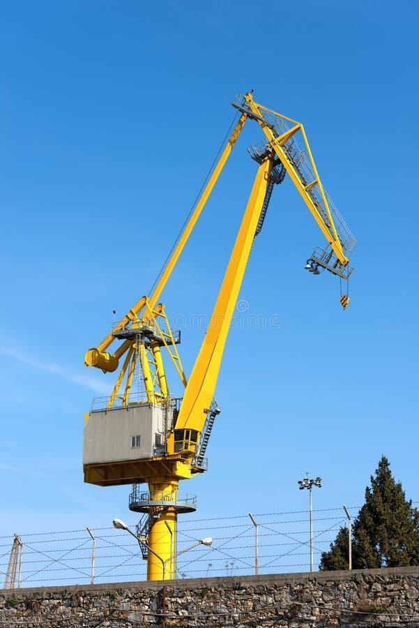 Grote Kraan bij Haven - La Spezia Italië stock fotografie