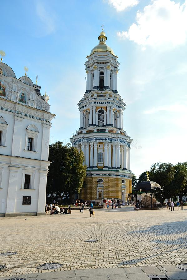 Grote Lavra Belltower, Kiev stock afbeeldingen