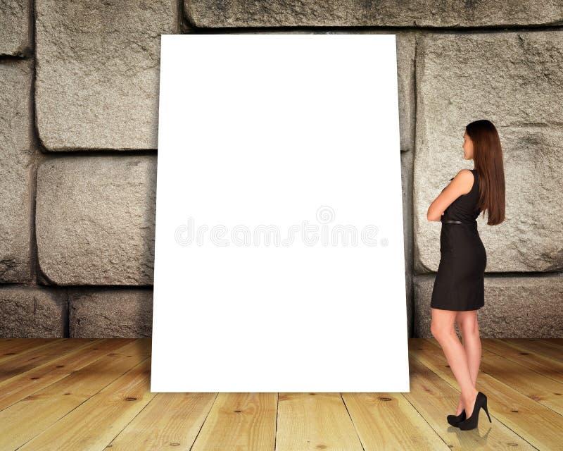 Grote lege banner stock afbeelding