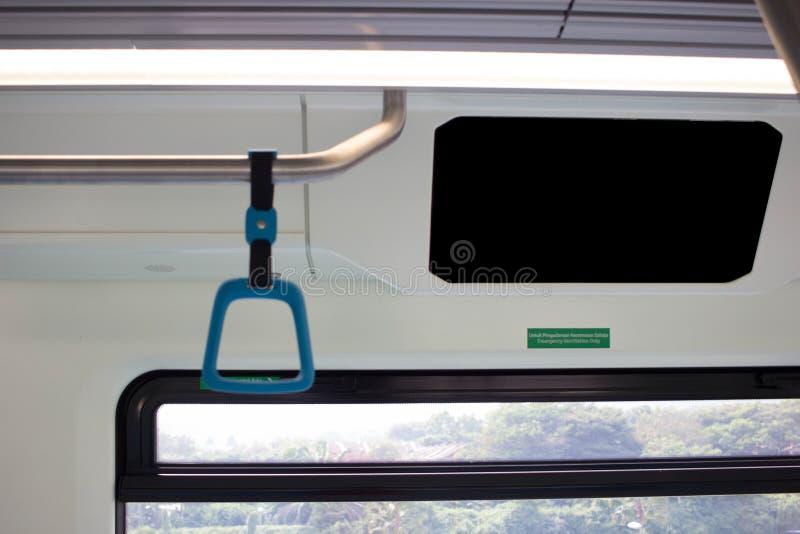 Grote Lege Reclamevlek op treinbus stock afbeeldingen