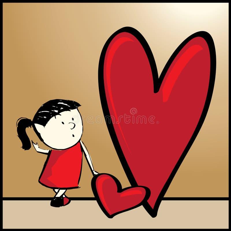Grote Liefde. royalty-vrije illustratie