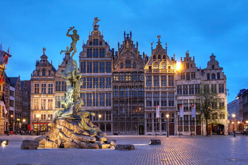 Grote Markt, Αμβέρσα, Βέλγιο στοκ εικόνες