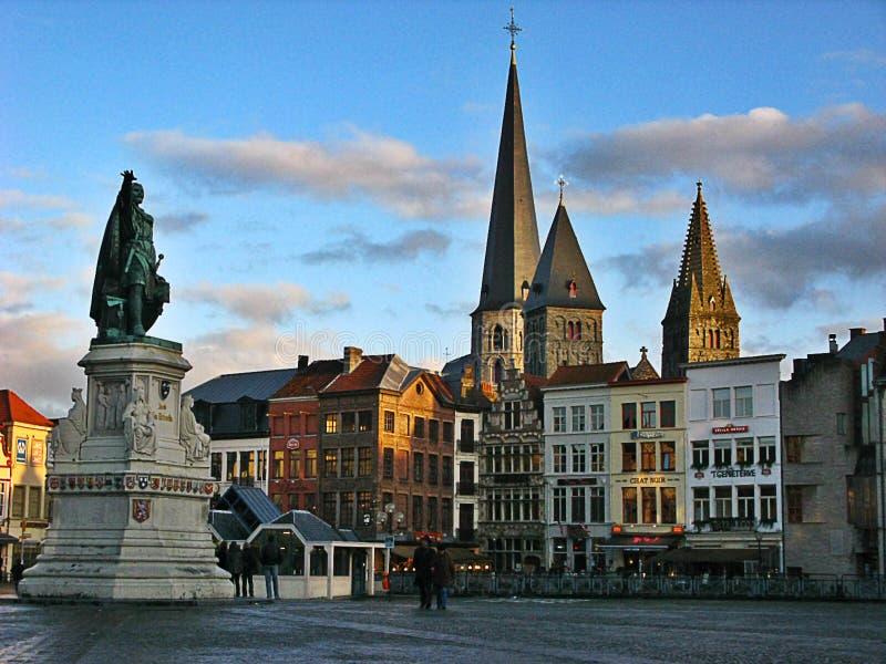 Grote Markt, Μπρυζ στοκ εικόνες