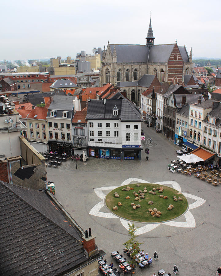 Grote Markt, Aalst fotografía de archivo libre de regalías