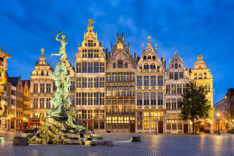Grote Markt in Antwerp, Belgium stock image