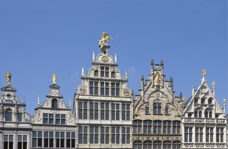 Grote-Markt in Antwerpen stock photos