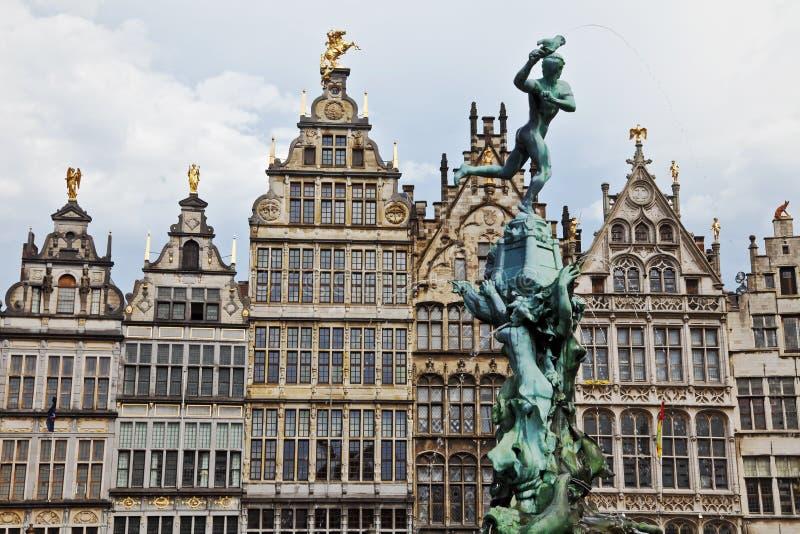 Grote Markt Anversa immagini stock