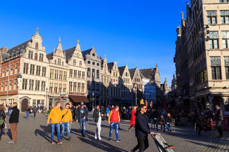 Grote Markt a Anversa, Belgio immagini stock libere da diritti