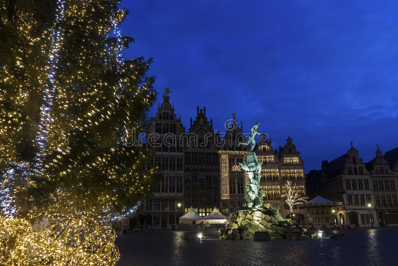 Grote Markt a Anversa nel Belgio immagine stock libera da diritti
