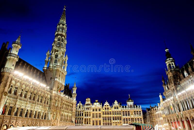 Grote Markt in Brüssel, Belgien lizenzfreie stockfotos