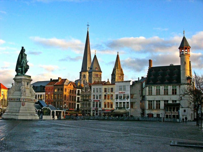 Grote Markt, Bruges. stock images