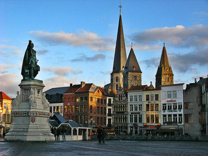 Grote Markt, Bruges photo stock