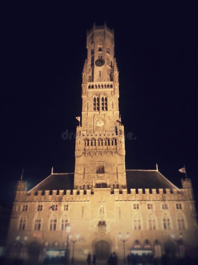 Grote Markt Brugges Brujas bélgica Torre piedras Orloge swatch fotografía de archivo