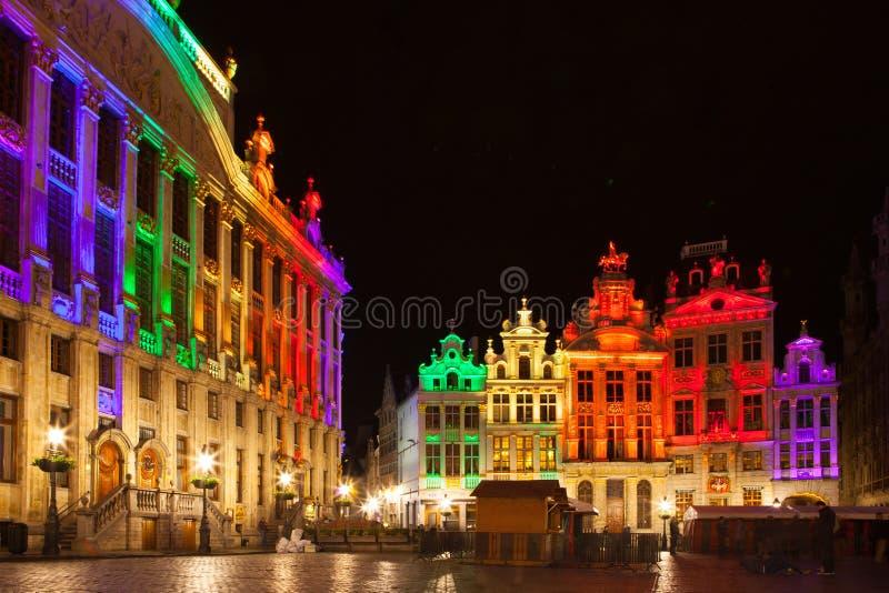 Grote Markt - den huvudsakliga fyrkanten och stadshuset av Bryssel royaltyfria foton