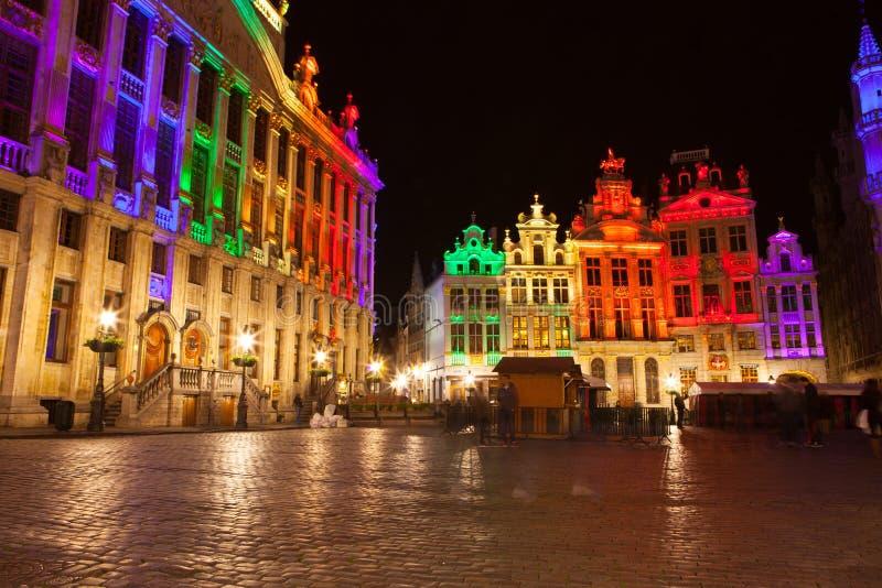 Grote Markt - den huvudsakliga fyrkanten och stadshuset av Bryssel fotografering för bildbyråer