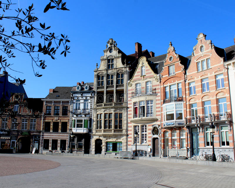 Grote Markt, Dendermonde stock foto