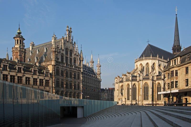 Grote markt , Leuven , Belgium royalty free stock photos