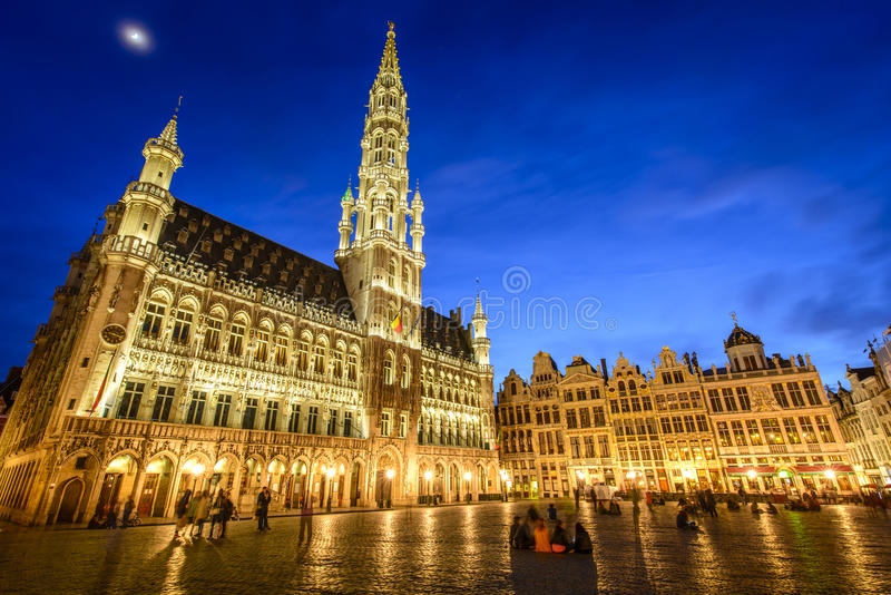Grote Markt i Bryssel, Belgien royaltyfri fotografi