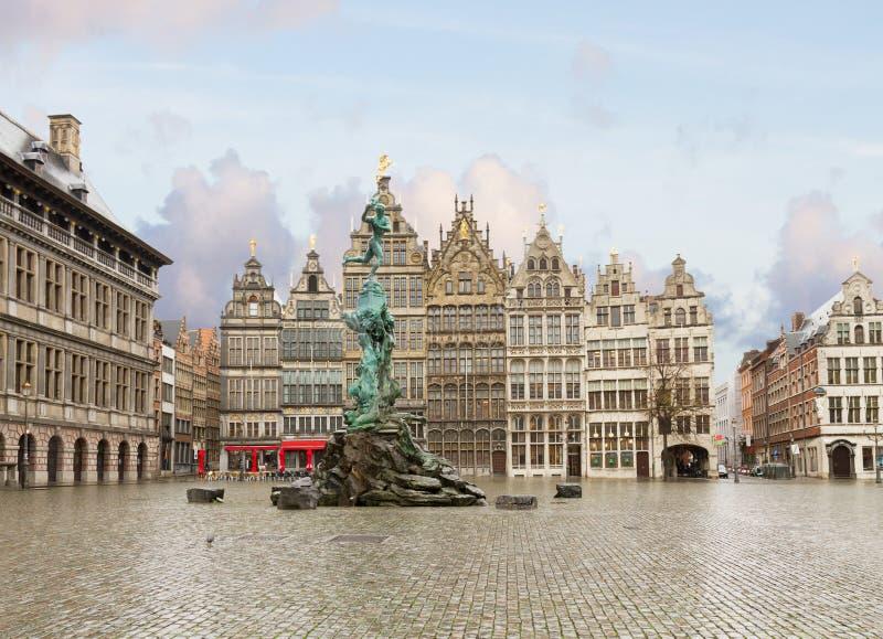 Grote Markt kwadrat, Antwerpen obrazy royalty free