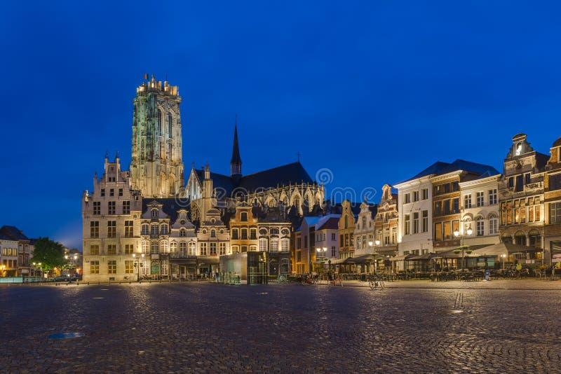 Grote Markt in Mechelen - België royalty-vrije stock foto