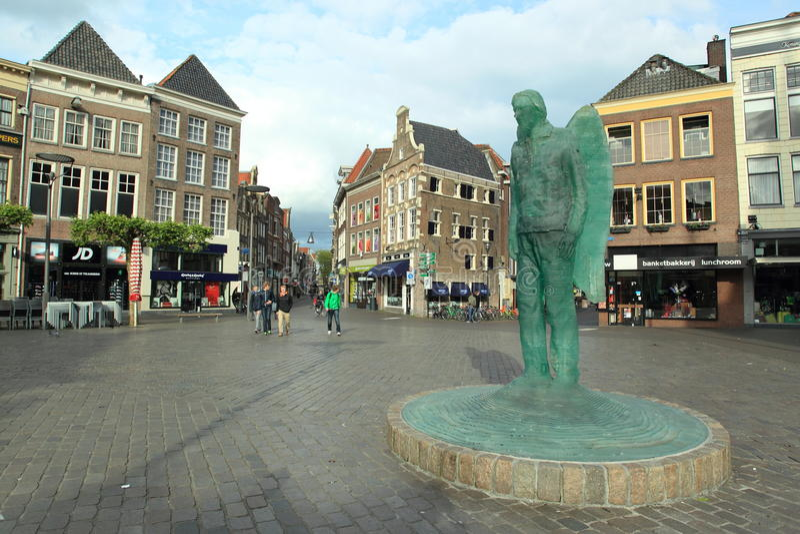 Grote markt w Zwolle zdjęcia stock