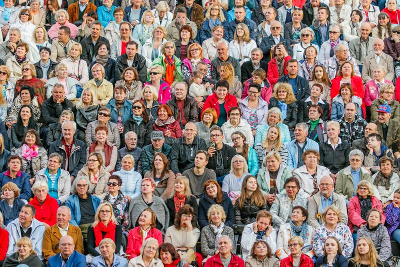 Grote menigte van mensen royalty-vrije stock foto's