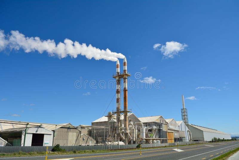 Grote meststoffenfabriek stock fotografie