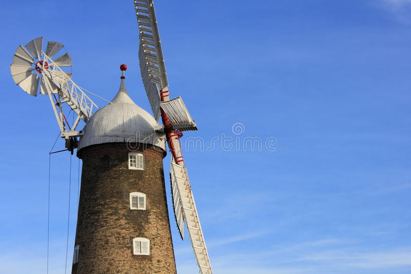Grote molen in Boston in het UK stock afbeeldingen