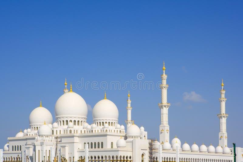 Grote moskee, Abu Dhabi, Emiraten royalty-vrije stock foto's